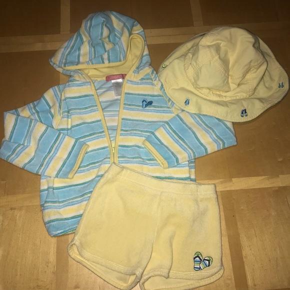 Gymboree Other - 👧🏼Gymboree Swim Coverup Hoodie, Shorts & Hat